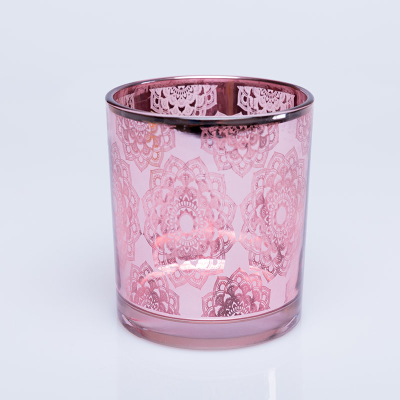 Wholesale OEM ODM customized design luxury bright shining glass votive tealight candle holder