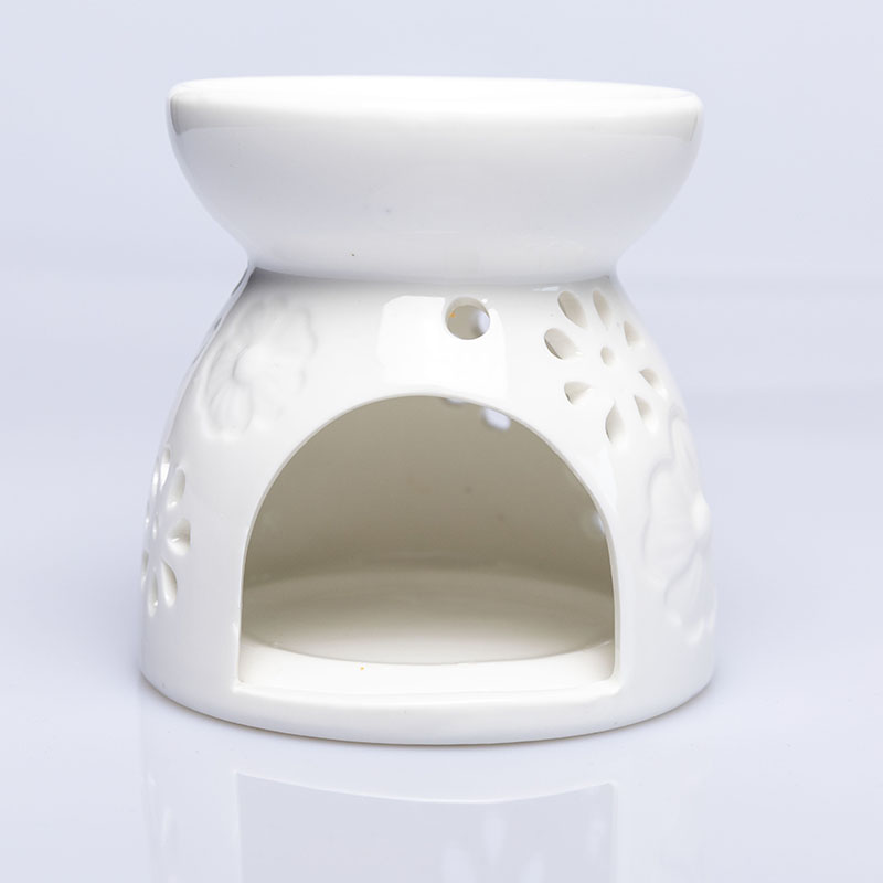 Customized hot selling fragrance ceramic oil burner with wax melt or candle
