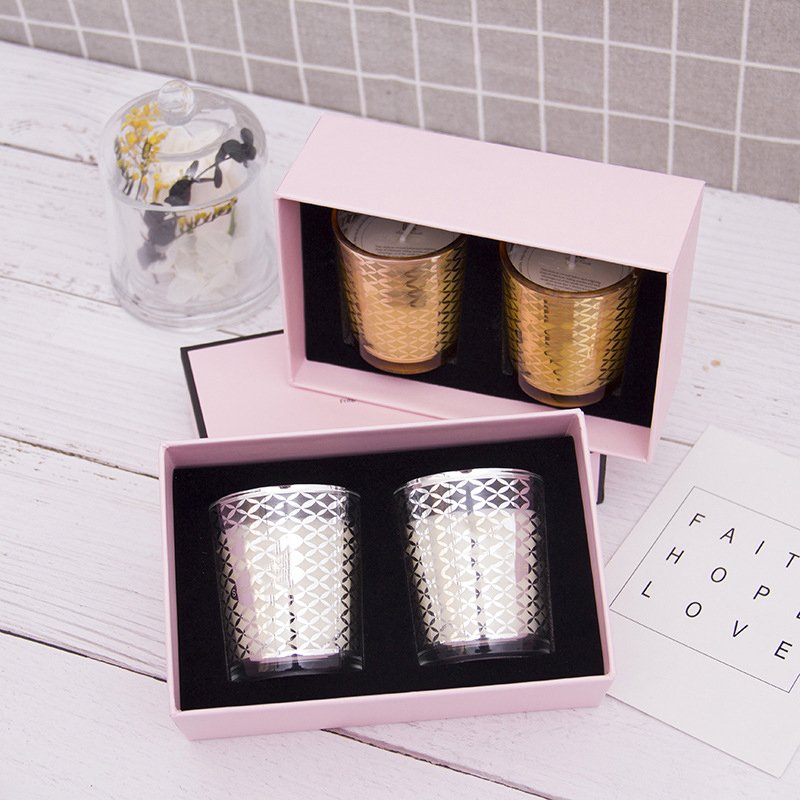 Own brand customized private label Christmas scented candle gift set for home decor