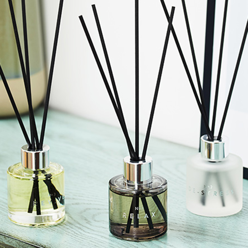 Private label own brand packaging customized wholesale 3pk essential oil room reed diffuser gift set for air freshening