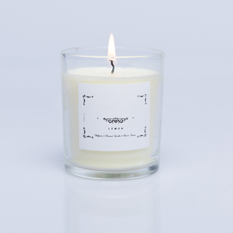 China candle  wholesaler personalized  glass scented soy wax candles customized packaging and label
