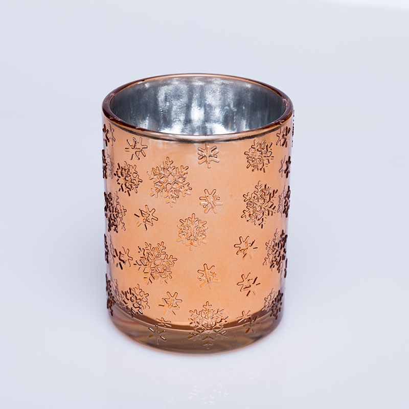 OEM ODM  hot-selling customized electroplated glass votive candle holders for Christmas