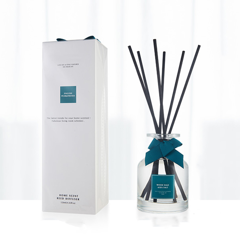 Free samples provided private label wholesale aromatherapy room reed diffuser in luxury box for home fragrance