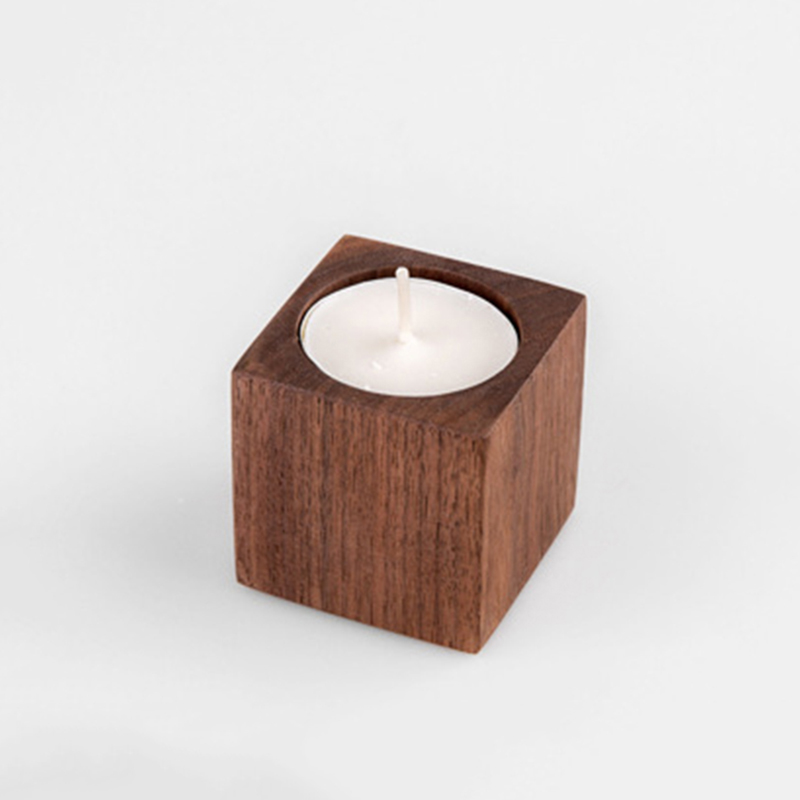 Candle supplier wholesale customized wooden candle holder with different sizes and colors for home decor